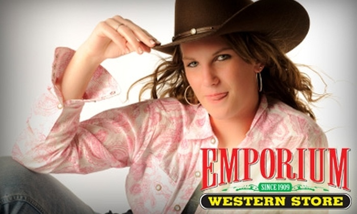 Emporium Western Store - Downtown Bakersfield: $25 for $50 Worth of Western Wear and More at Emporium Western Store