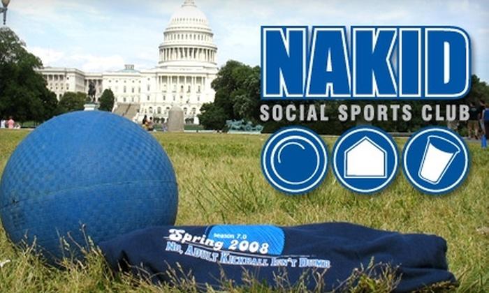 NAKID Kickball and Social Club: $30 for Kickball Registration for One Person to NAKID Kickball and Social Club