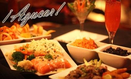 $50 Groupon to Azucar Latin Restaurant Mojito Bar & Lounge - Azucar Latin Restaurant Mojito Bar & Lounge in San Jose