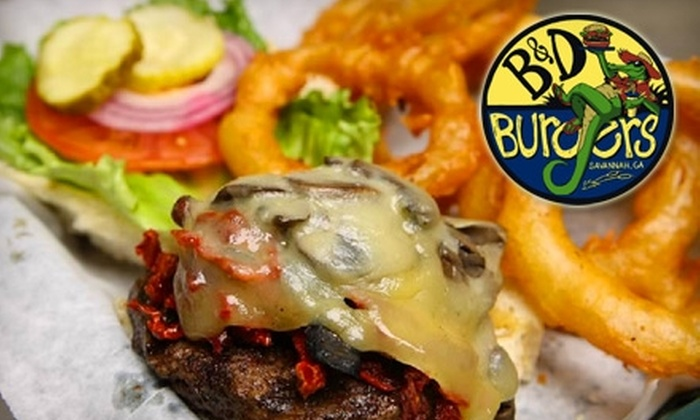 B & D Burgers - Multiple Locations: $8 for $20 Worth of Burgers, Wings, and More at B & D Burgers