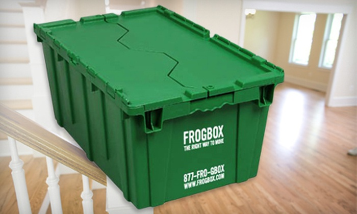 FrogBox - Airport: $50 for $100 Worth of Plastic Moving Boxes, Wardrobe Boxes, and Packing Paper from FrogBox