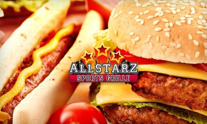 All Starz Sports Grille - Liberty: $7 for $15 Worth of Pub Fare and Pours at All Starz Sports Grille
