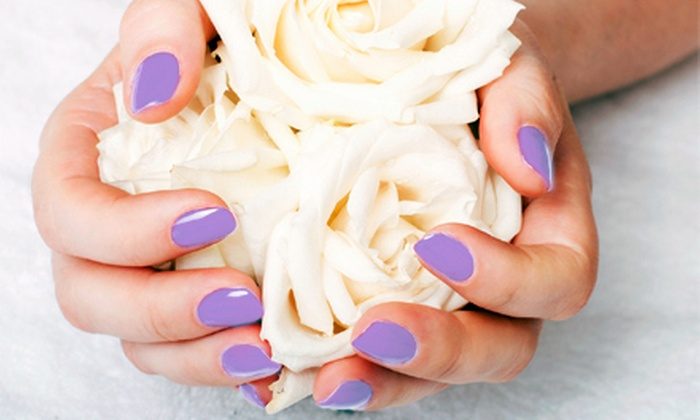 River Falls Salon & Spa - Prince William County Center: One or Three Shellac OPI Gel Manicures with Milk and Honey Pedicures at River Falls Salon & Spa (Up to 55% Off)