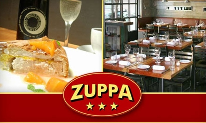 Zuppa - Mission Bay: $25 for $50 Worth of Italian Food and Drink at Zuppa Restaurant in SoMa