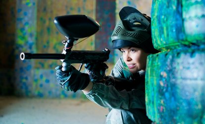 image for Full-Day Paintballing for Up to 20 People with 200 Balls Each at Skirmish Paintball (Up to 97% Off)