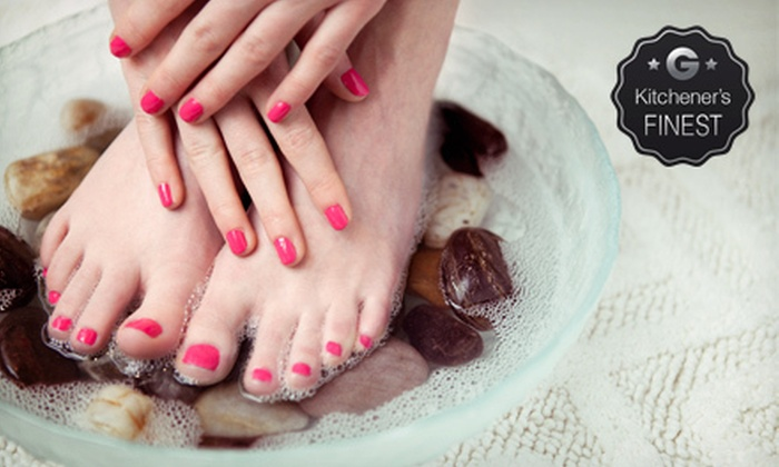 Arpies Hair and Beauty Salon - Guelph: Deluxe Mani-Pedi, Hydrolifting Facial, or Both at Arpies Hair and Beauty Salon (Up to 58% Off)