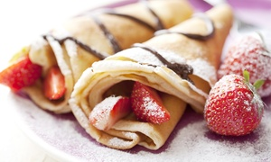 Crazy for Yogurt: Two or Four Build-Your-Own Crepes or Waffles at Crazy for Yogurt (Up to 58% Off)