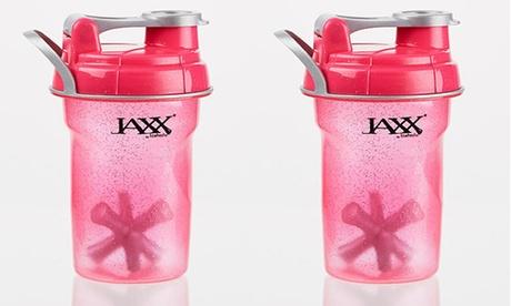 Jaxx Glitter Pink Shaker Cup (2-Pack)