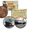 RMS Titanic & Carpathia Genuine 1912 Great Britain Coin Set (2-Piece)