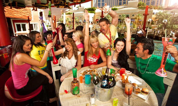 Señor Frog's Times Square - Times Square:  $49.95for Two 28-Ounce Yard Drinks and One Order of Regular Nachos at Señor Frog's Times Square($76.95 Value)