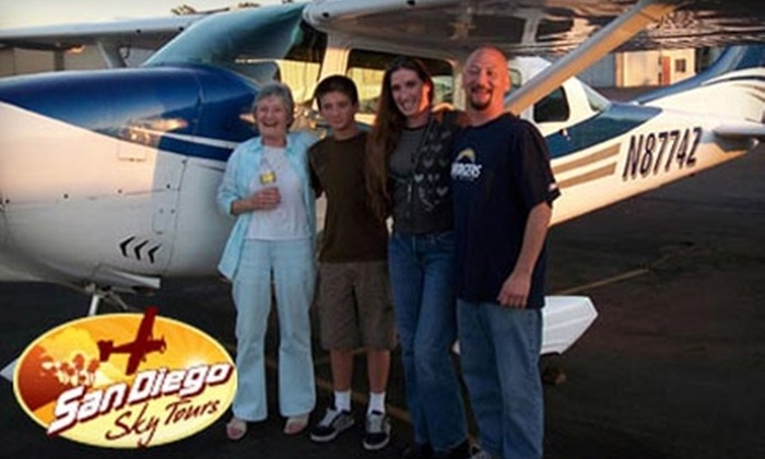 San Diego Sky Tours - Kearny Mesa: $65 for a Single Passenger Ticket to a Downtown Fly-Around Tour from San Diego Sky Tours ($154.99 value)