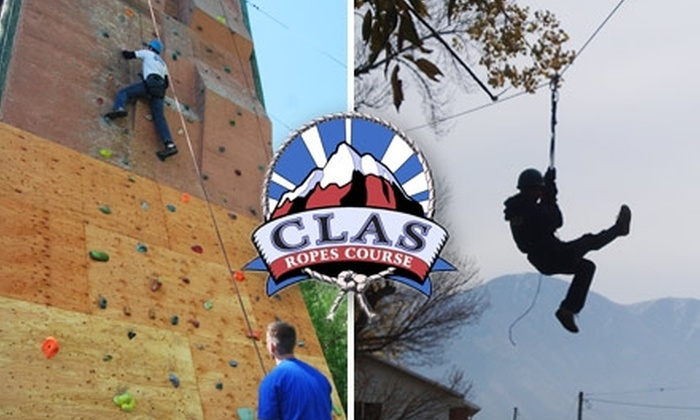 CLAS Ropes Course - Provo: $13 for a Two-Hour Outdoor Excursion with a Zip-Line, a Climbing Wall, and Canoeing at CLAS Ropes Course ($30 Value)