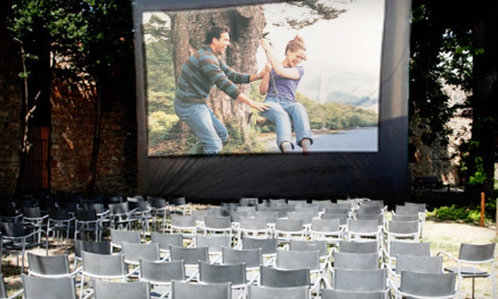 CineStar Outdoor Movie Company - Stonebridge Ranch: Movie-Screen Rental for Up to 50 People from CineStar Outdoor Movie Company (Up to 54% Off). Two Options Available.