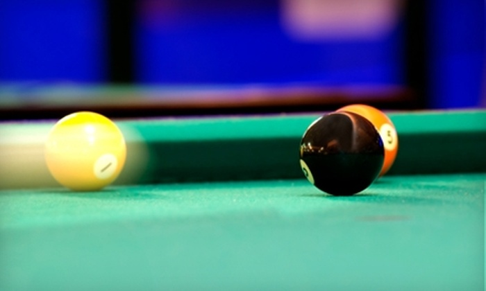 Clicks Billiards - Southwind: $15 for Three Hours of Billiards and $15 Worth of Snacks and Drinks at Clicks Billiards (Up to $48 Value).