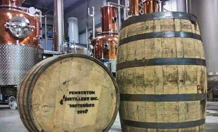 Distillery Tour and Tasting for Two (a $10 value) - Pemberton Distillery in Pemberton