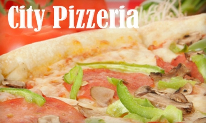 City Pizzeria - Core-Columbia: $10 for $25 Worth of Pizza, Subs, and More for Dine-In or Delivery or $25 for $60 Worth of Catering from City Pizzeria