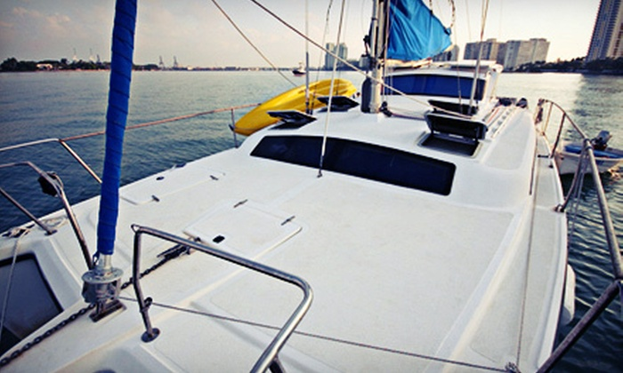 """Grouchy Turtle"" - Downtown Miami: Half-Day Catamaran Charter for Two or Six Aboard the ""Grouchy Turtle"" (Up to 58% Off)"