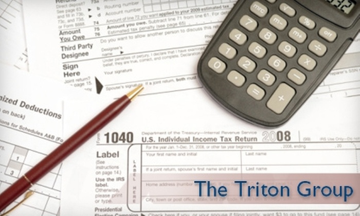 The Triton Group - Multiple Locations: $60 for Tax Filing Services from The Triton Group (up to $175 value)