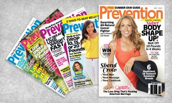 """""""Prevention"""" Magazine: $8 for a One-Year Subscription to """"Prevention"""" Magazine ($16.94 Value)"""