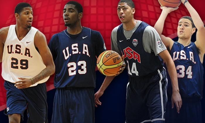2013 USA Basketball Showcase: Men's National Team Blue vs. White - Paradise: USA Basketball Men's National Team Game at Thomas & Mack Center on Thursday, July 25, at 6 p.m. (56% Off)
