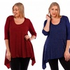Stanzino Women's Plus-Size Crochet Blouse
