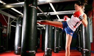 KnuckleUp Fitness: One Month Unlimited Kickboxing or Martial Arts Classes at KnuckleUp Fitness (Up to 82% Off)