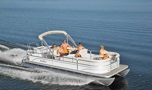 Boat Oneida: Four- or Eight-Hour Pontoon-Boat Rental for Up to 10 from Boat Oneida (Up to 47% Off)