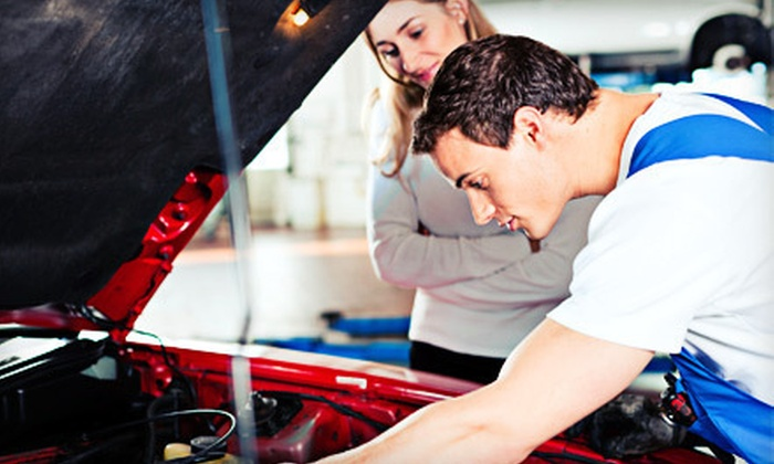 Auto Care Special - Multiple Locations: Auto-Maintenance Package with Three Oil Changes, Two Tire Rotations, Diagnostics, and Flat-Tire Repairs ($199 Value)