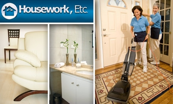 Housework, Etc. - Cleveland: $50 for a Two-Person, Two-Hour Housecleaning from Housework, Etc. ($120 Value)