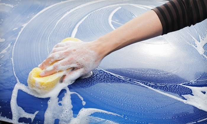 Hesperian 100% Hand Carwash - San Leandro: $20 for a Platinum Car Wash with Rain-X Protectant For Exterior and Wheels (Up to $39.99 Value)