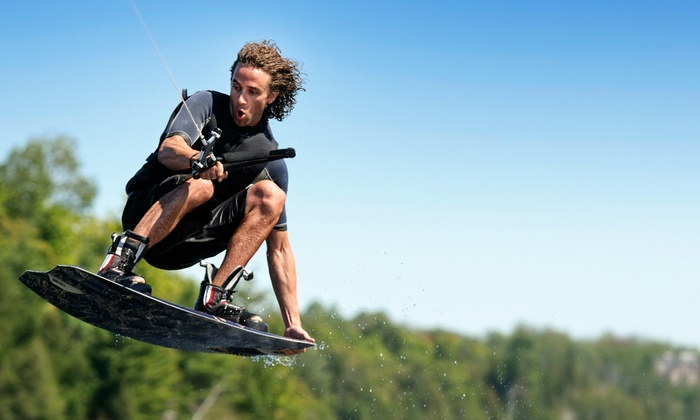 Wake The Lake Cable Park - Flowery Branch: Half- or Full-Day Malibu 22MXZ Speed-Boat Rental with Wakeboards at Wake The Lake Cable Park (Up to 52% Off)