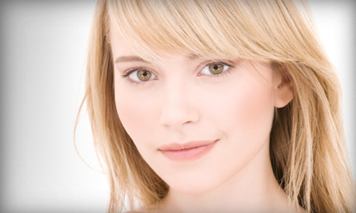 Happy Salon + Spa - Multiple Locations: $79 for a Haircut, Gloss, and Aveda Facial at Happy Salon + Spa (Up to $225 Value)