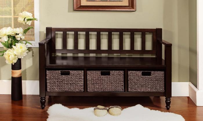 Jcpenney Foyer Furniture : Dakota entryway storage bench groupon goods