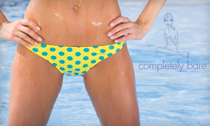 Completely Bare - Multiple Locations: One or Two Brazilian Bikini Waxes or One Year of Unlimited Brazilian Bikini Waxes at Completely Bare (Up to 69% Off)