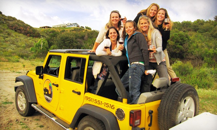 Sunrider Wine Tours - Old Town Temecula: Off-Road Wine Tour with Lunch or Appetizers for One or Two from Sunrider Wine Tours (Up to 45% Off)