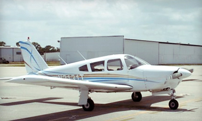 Tradewinds Flight School - St Lucie County International Airport: $75 for a Discovery Flight Lesson with Instructional Book from Tradewinds Flight School in Fort Pierce ($150 Value)