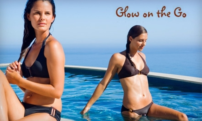 Glow On The Go - Fort Wayne: $15 for a Full-Body Customized Airbrush Tan ($35 Value) or $85 for a Six-Person Home-Tanning Party ($210 Value) from Glow on the Go