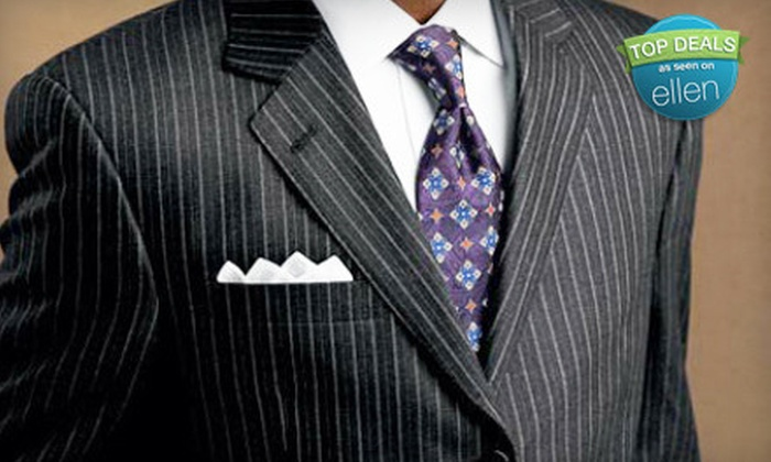Bunbury Custom Clothiers - University: Custom Suit with Shirt and Tie or Four Custom Egyptian-Cotton Shirts at Bunbury Clothiers (Up to 65% Off)