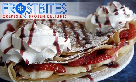 $8 Groupon to Frostbites Crepes & Frozen Delights - Frostbites Crepes & Frozen Delights in Riverside