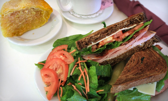 Tootie Pie Co. Gourmet Café - Frisco: Sandwich Meal with Sides, Drinks, and Pie for Two or Four at Tootie Pie Co. Gourmet Café in Frisco (Up to 58% Off)