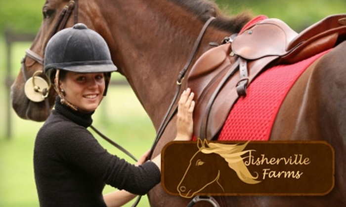 Fisherville Farms - Gray's Creek Association: $20 for One Private Horseback-Riding Lesson at Fisherville Farms ($40 Value)