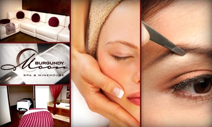 Burgundy Moon Spa & Winehouse - Cornelius: $69 for a Luxury Facial, Eye and Lip Treatment, and Eyebrow Sculpting at Burgundy Moon Spa