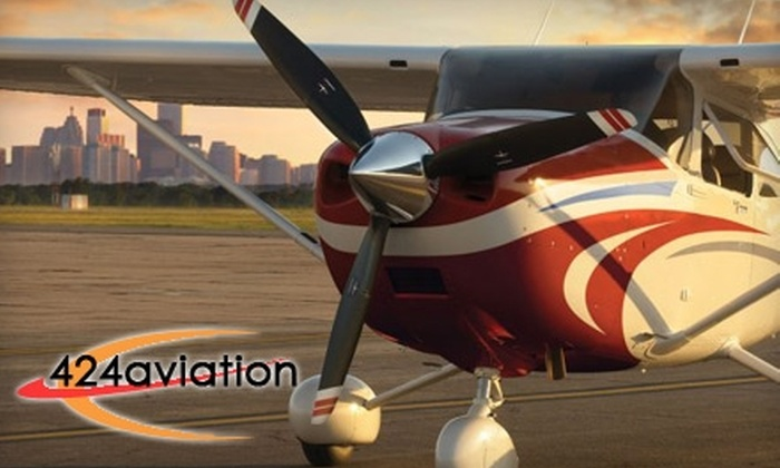 424 Aviation Inc. - The Crossings: $49 for a One-Hour Flight Lesson from 424 Aviation Inc. ($99 Value)