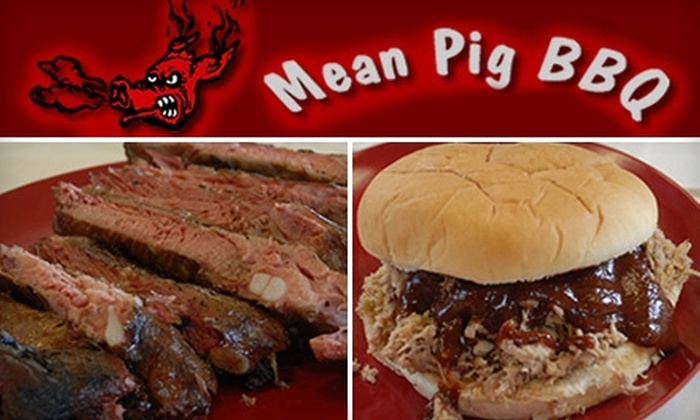The Mean Pig BBQ  - Cabot: $5 for $12 Worth of Barbecue at The Mean Pig BBQ in Cabot