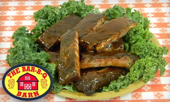 The Bar-B-Q Barn - Business 41: $5 for $10 Worth of Real Pit Barbecue and Drinks at The Bar-B-Q Barn