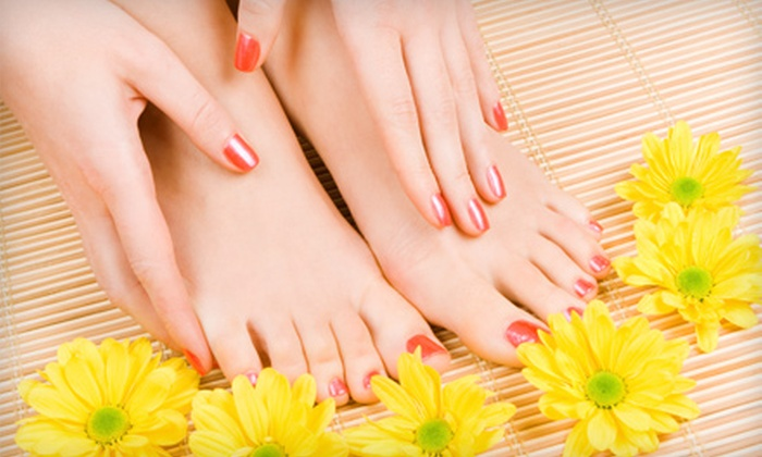 Invidia Salon and Spa - Sudbury: $25 for The Dash Manicure and Pedicure at Invidia Salon and Spa in Sudbury ($47 Value)