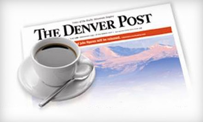 """The Denver Post"" - Denver: $17 for 13 Weeks of Saturday and Sunday Home Delivery of ""The Denver Post"" ($29.25 Value) Plus a $10 King Soopers Gift Card"