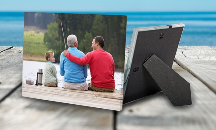 "MailPix: One, Two, or Four Custom 5""x7"" Easel-Back Photo Canvases from MailPix (Up to 91% Off)"