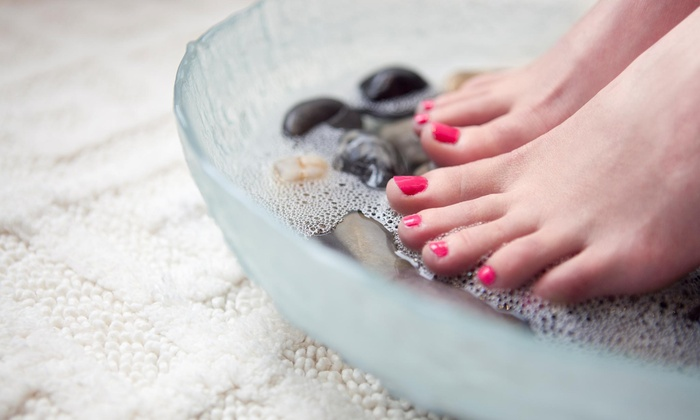 Lifestylez Nails - Village Center: One or Two Shellac Manicures with Spa Pedicures at Lifestylez Nails (55% Off)