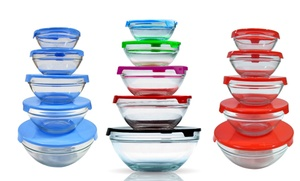 Wexley Home Set Of 5 Glass Bowls With Lids